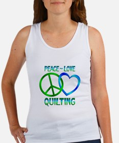 Peace Love Quilting Women's Tank Top