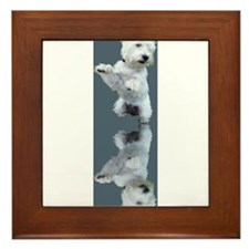 Dancing Westie Framed Tile