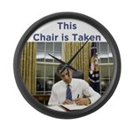 Obama: This Chair is Taken Large Wall Clock