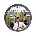 Obama: This Chair is Taken Wall Clock