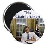"Obama: This Chair is Taken 2.25"" Magnet (10 p"