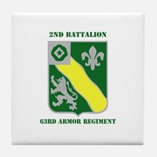 DUI - 2nd Bn - 63rd Armor Regiment with Text Tile