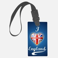 Union Jack Heart Luggage Tag