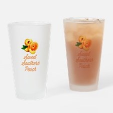Sweet Southern Peach Drinking Glass