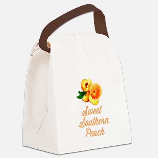 Sweet Southern Peach Canvas Lunch Bag