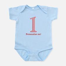 Gingham 1st Birthday Infant Bodysuit