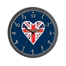 Union Jack Heart Wall Clock
