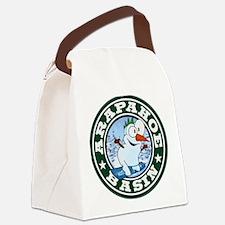 A-Basin Snowman Circle Canvas Lunch Bag