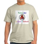 Twins are 2 Cool 4 School Ash Grey T-Shirt