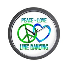 Peace Love Line Dancing Wall Clock