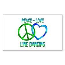 Peace Love Line Dancing Decal