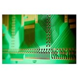Printed circuit board Wrapped Canvas Art