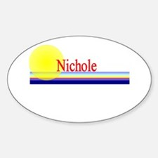 Nichole Oval Decal