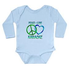 Peace Love Karaoke Long Sleeve Infant Bodysuit