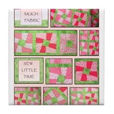 Maxines Quilt Pink 2 Tile Coaster