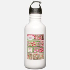 Maxines Quilt Pink 2 Water Bottle