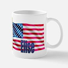 Elise Personalized USA Flag Mug
