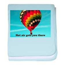 Hot air gets you there baby blanket