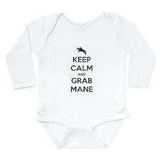 Keep Calm and Grab Mane Long Sleeve Infant Bodysui