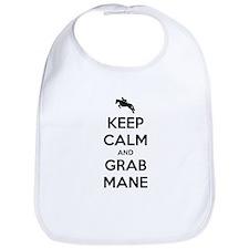 Keep Calm and Grab Mane Bib