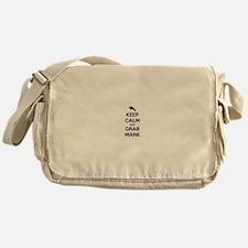 Keep Calm and Grab Mane Messenger Bag