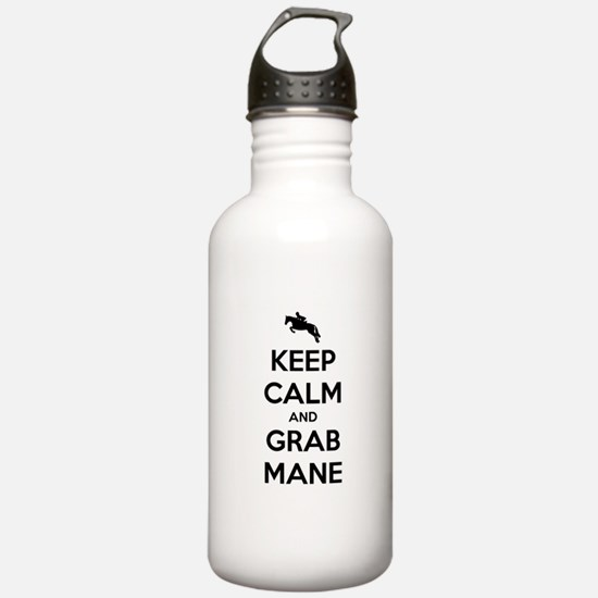 Keep Calm and Grab Mane Water Bottle