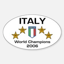 Italy World Champions Oval Decal