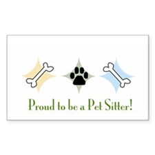 Proud to be a pet sitter Rectangle Decal