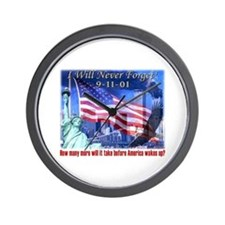 9-11 Tribute & Warning Wall Clock