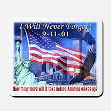 9-11 Tribute & Warning Mousepad
