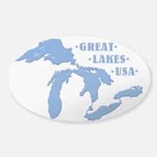 GREAT LAKES USA Sticker (Oval)