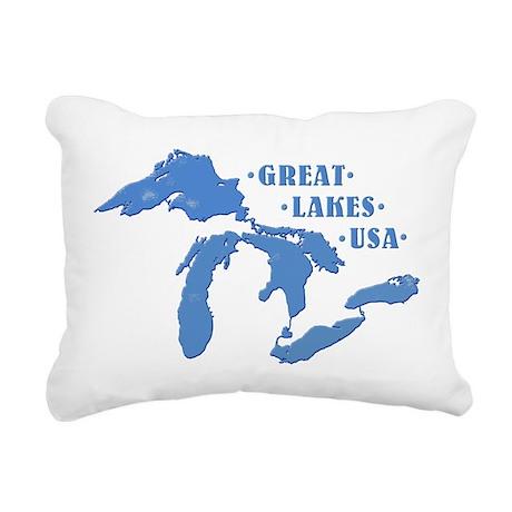 GREAT LAKES USA Rectangular Canvas Pillow