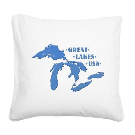 GREAT LAKES USA Square Canvas Pillow