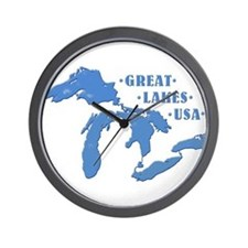 GREAT LAKES USA Wall Clock