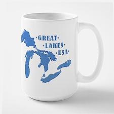 GREAT LAKES USA Large Mug