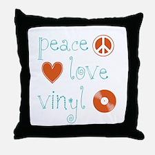 PeaceLoveVinyl.png Throw Pillow