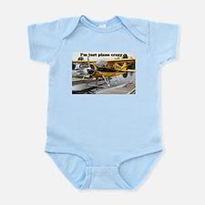 I'm just plane crazy: Beaver float plane Infant Bo