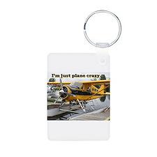 I'm just plane crazy: Beaver float plane Keychains