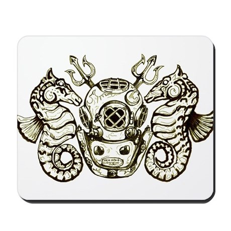 Classic Navy Master Diver Mousepad