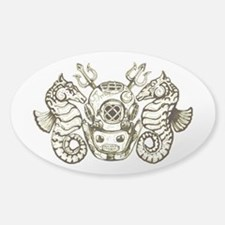 Classic Navy Master Diver Sticker (Oval)