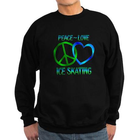 Peace Love Ice Skating Sweatshirt (dark)