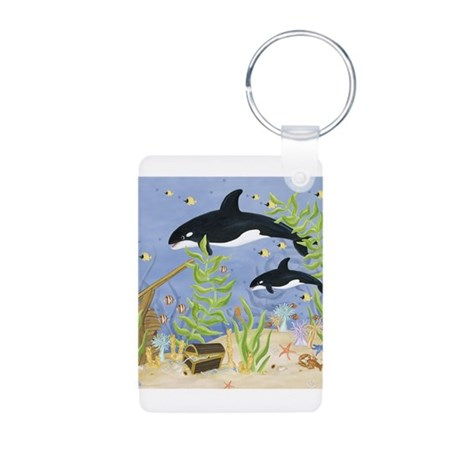 Killer Whale Aluminum Photo Keychain