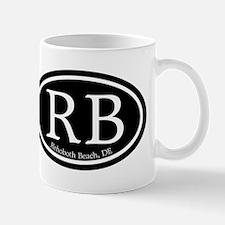 RB Rehoboth Beach Oval Mug