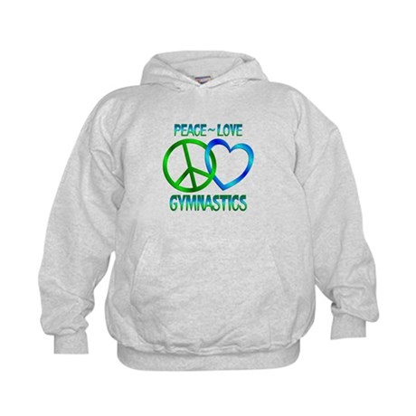 Peace Love Gymnastics Kids Hoodie