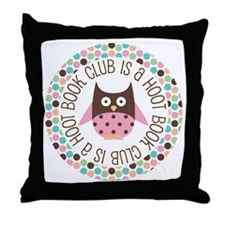 Book Club Is A Hoot Throw Pillow