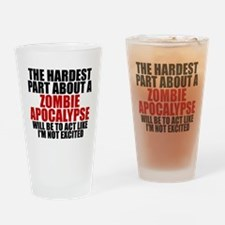 Exciting zombie apocalypse Drinking Glass