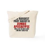 Zombie apocalypse Totes & Shopping Bags