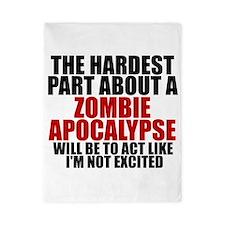 Exciting zombie apocalypse Twin Duvet