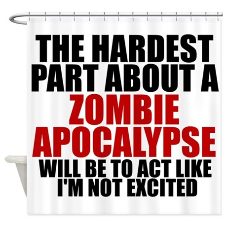 Exciting zombie apocalypse Shower Curtain
