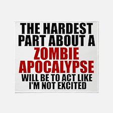 Exciting zombie apocalypse Throw Blanket